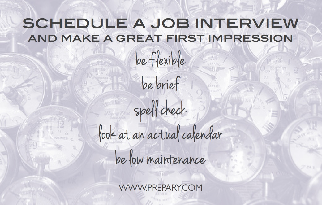 schedule a job interview