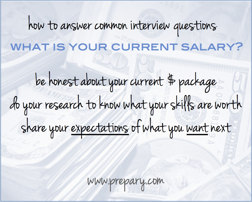 what is your current salary