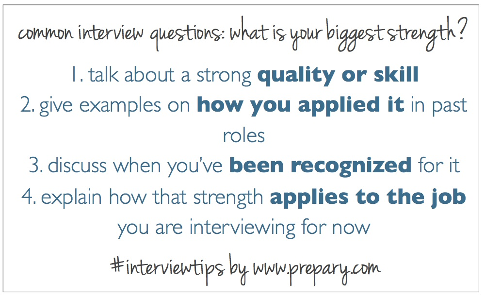 Common Interview Questions What Is Your Greatest Strength The