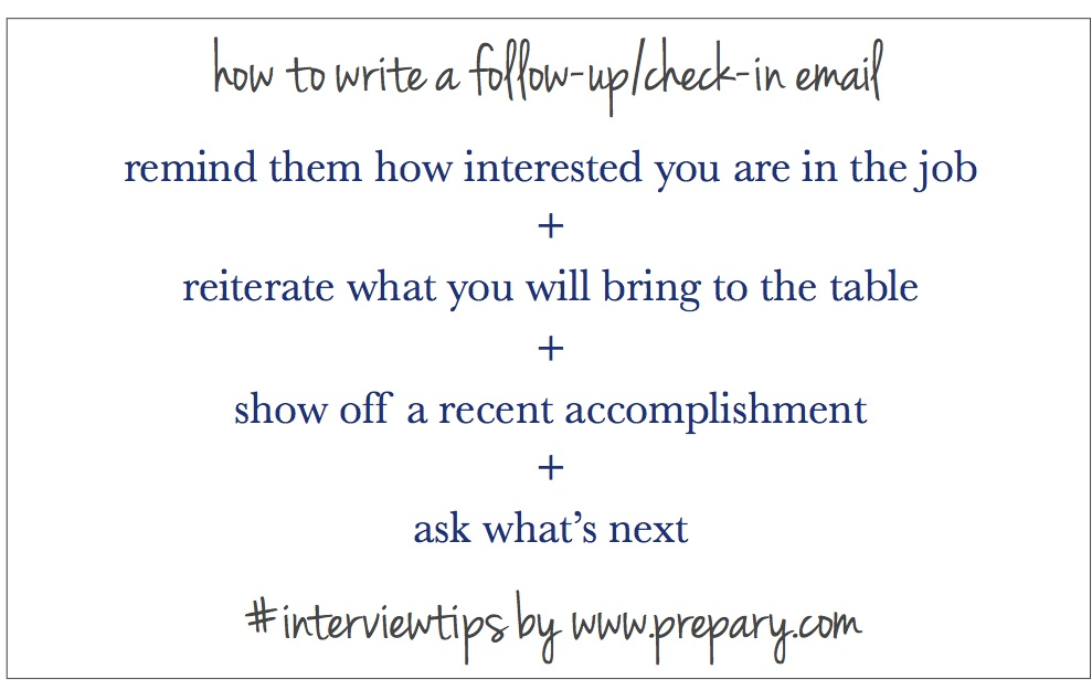 How To Write A Follow Up Email After An Interview  The Prepary
