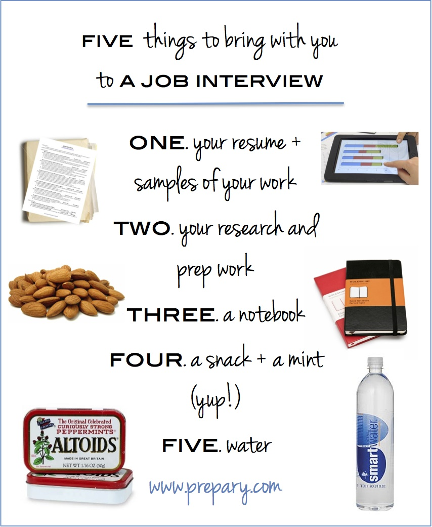 what to bring with you to a job interview the prepary