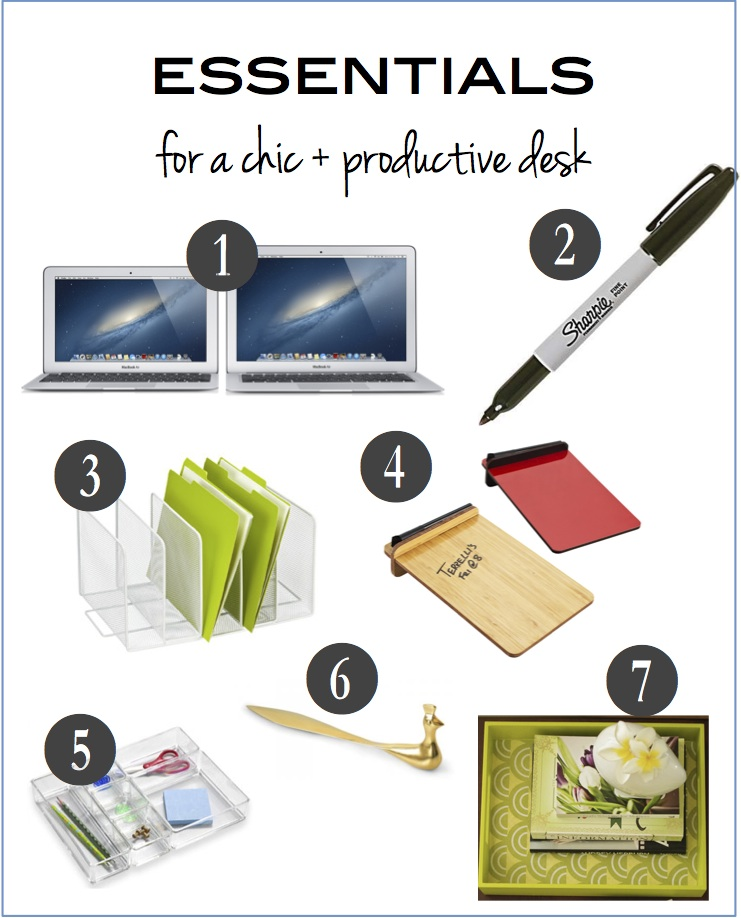 How to create an organized and chic desk : The Prepary