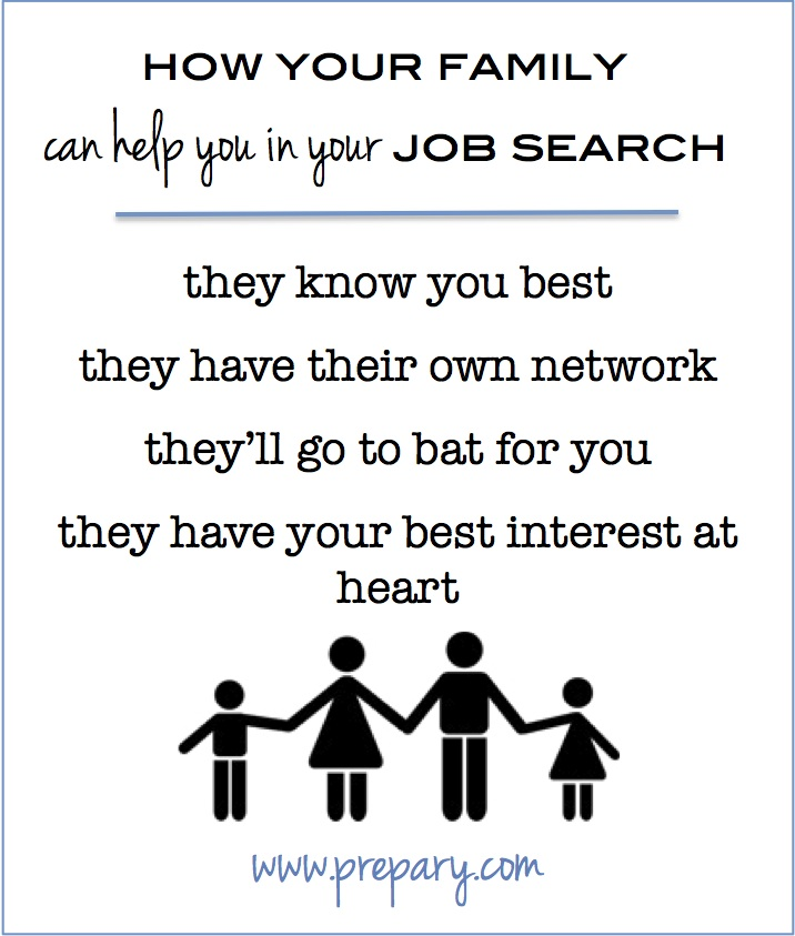 how your family can help you in your job search