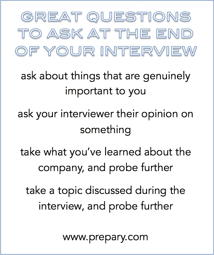Best questions to ask at the end of an interview - The Prepary ...