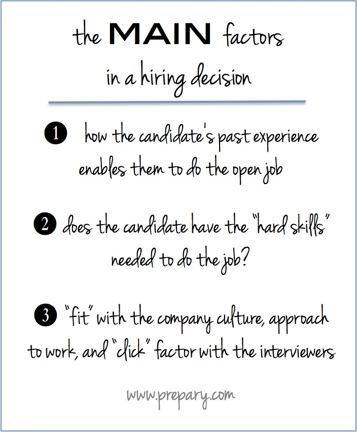reasons why candidates get hired