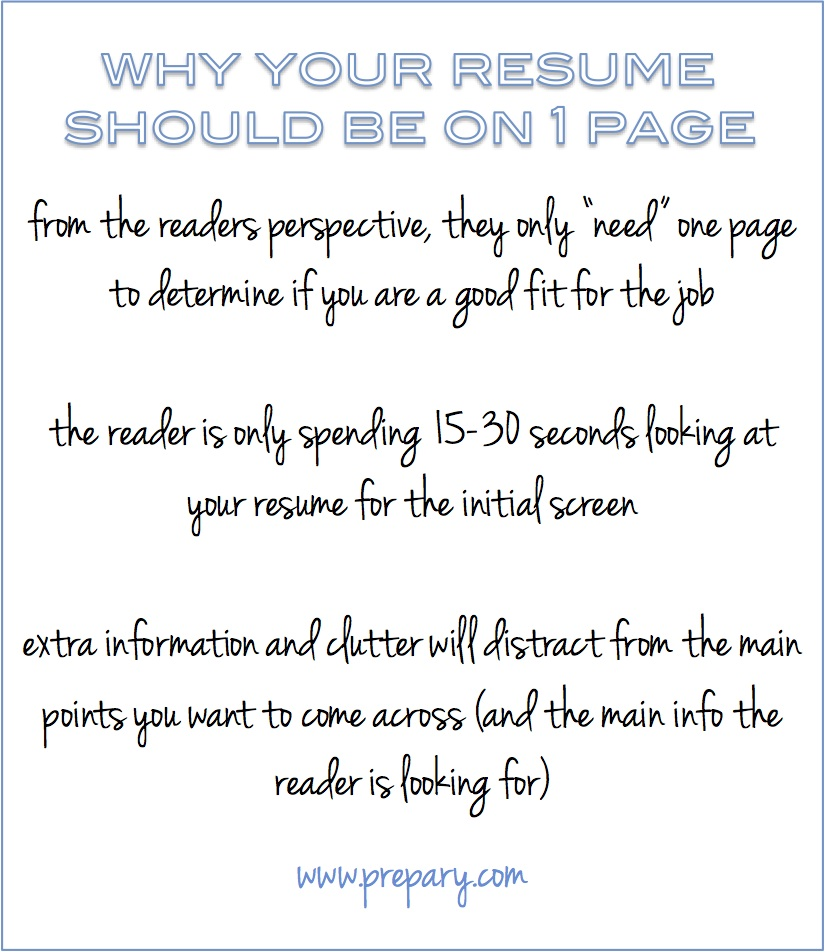 1 from the readers perspective they only need one page to determine if you are a good fit for the job