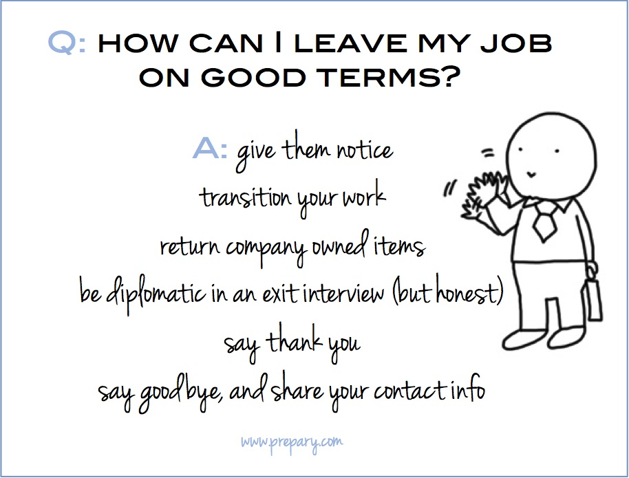 How to leave a job on good terms - The Prepary : The Prepary