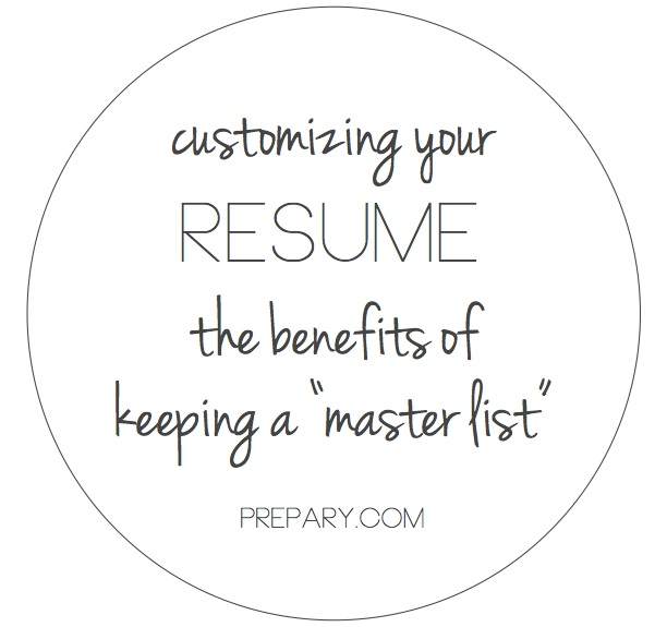 customize your resume for a job