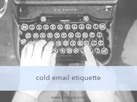 cold email etiquette