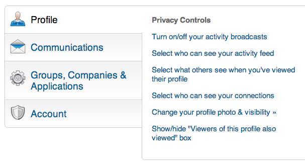 Privacy Settings LinkedIn