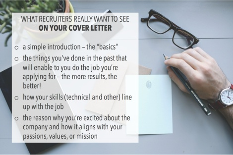 what recruiters want to see in your cover letter