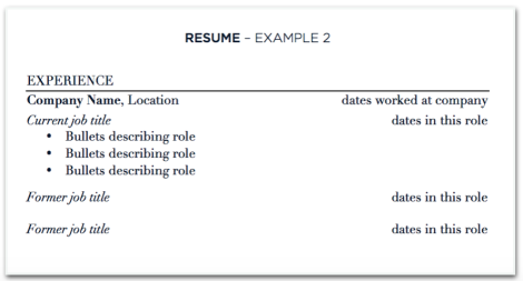 sample resume multiple jobs at one company - How To Do Resume For Job