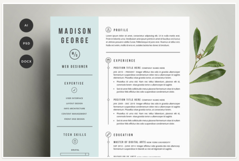 creative resume - good example
