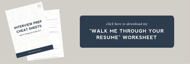 High Quality Walk Me Through Your Resume For Walk Me Through Your Resume