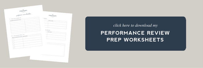 free performance review worksheet