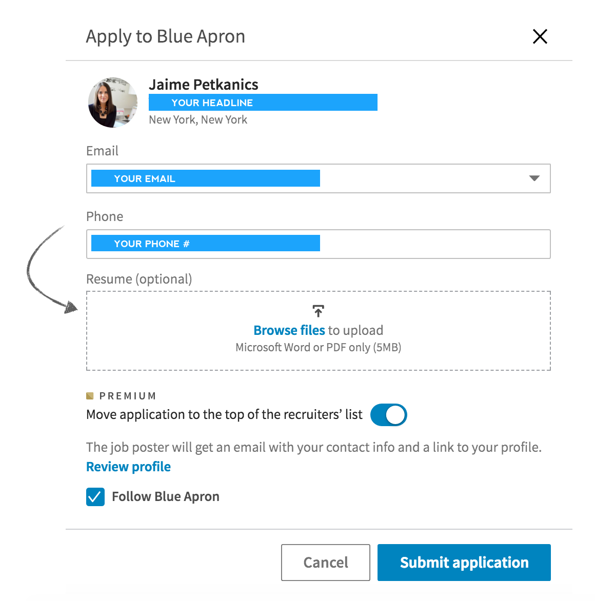 1) Always Attach Your Resume In Addition To Your LinkedIn Profile  Resume Upload