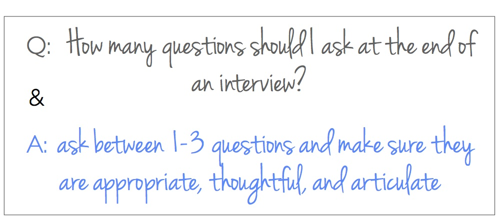 number of questions to ask at end of interview