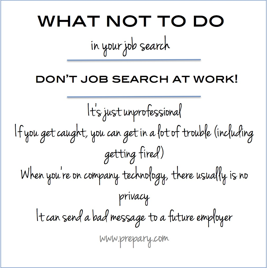 why you shouldn't job search at work