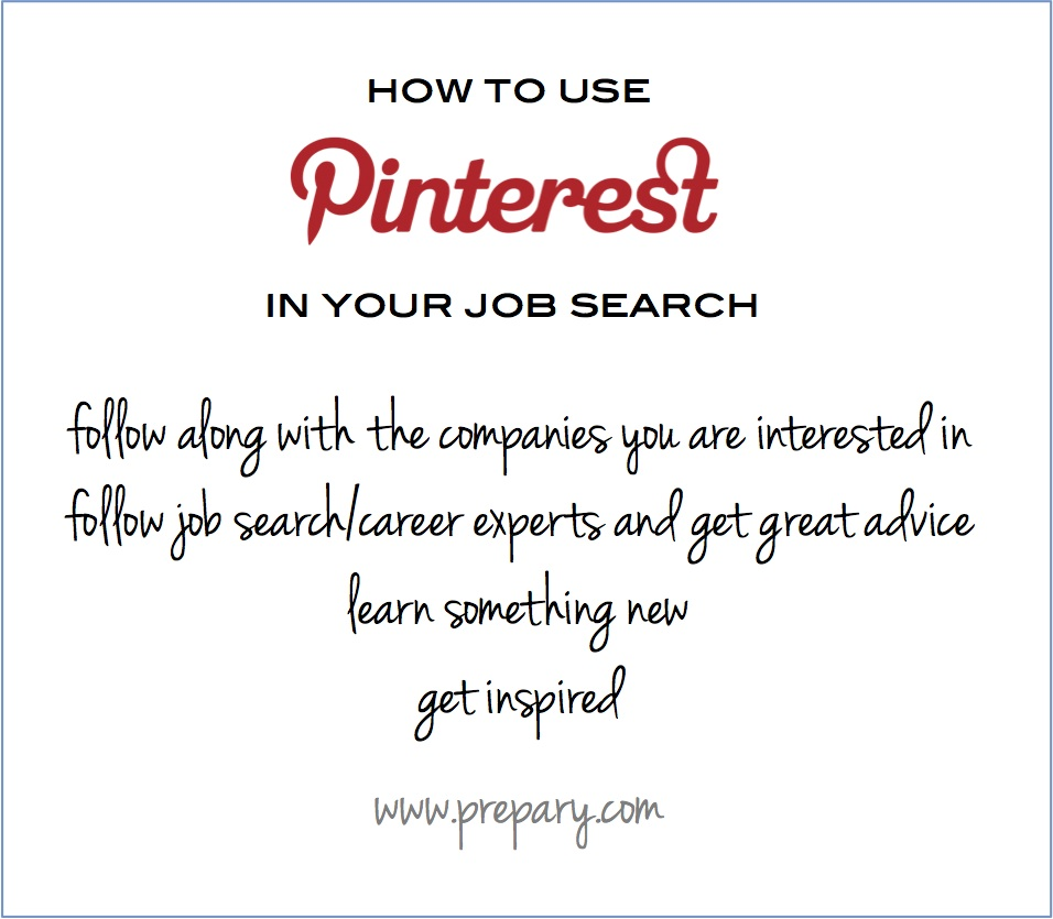 how to use pinterest in your job search