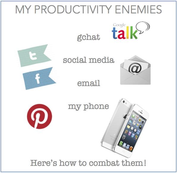 my productivity enemies