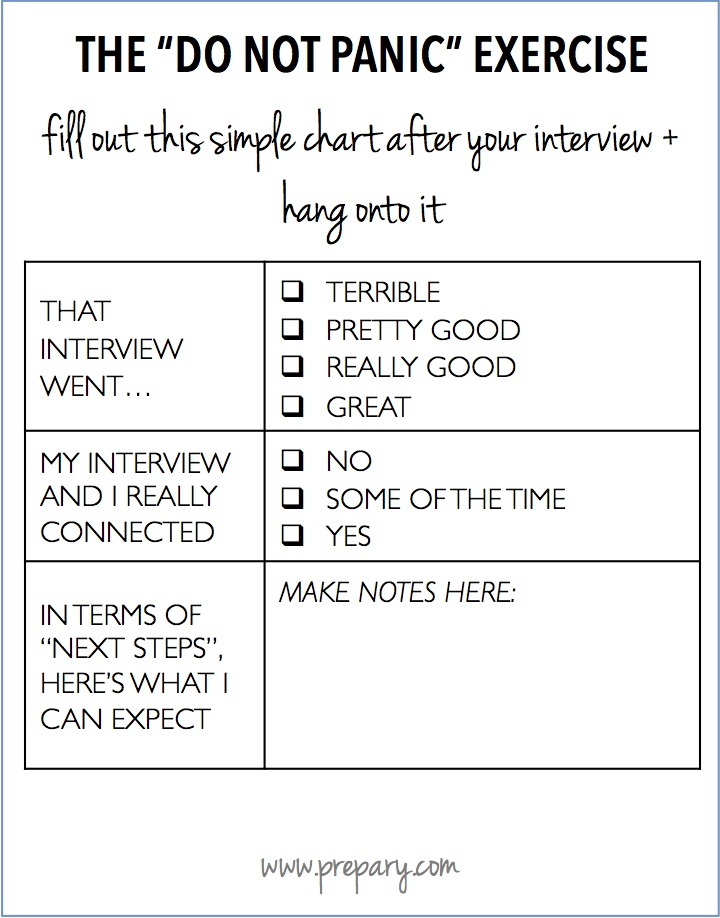 not hearing back after an interview