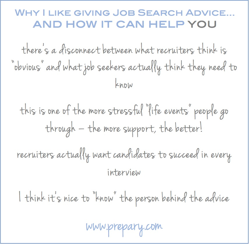why give job search advice