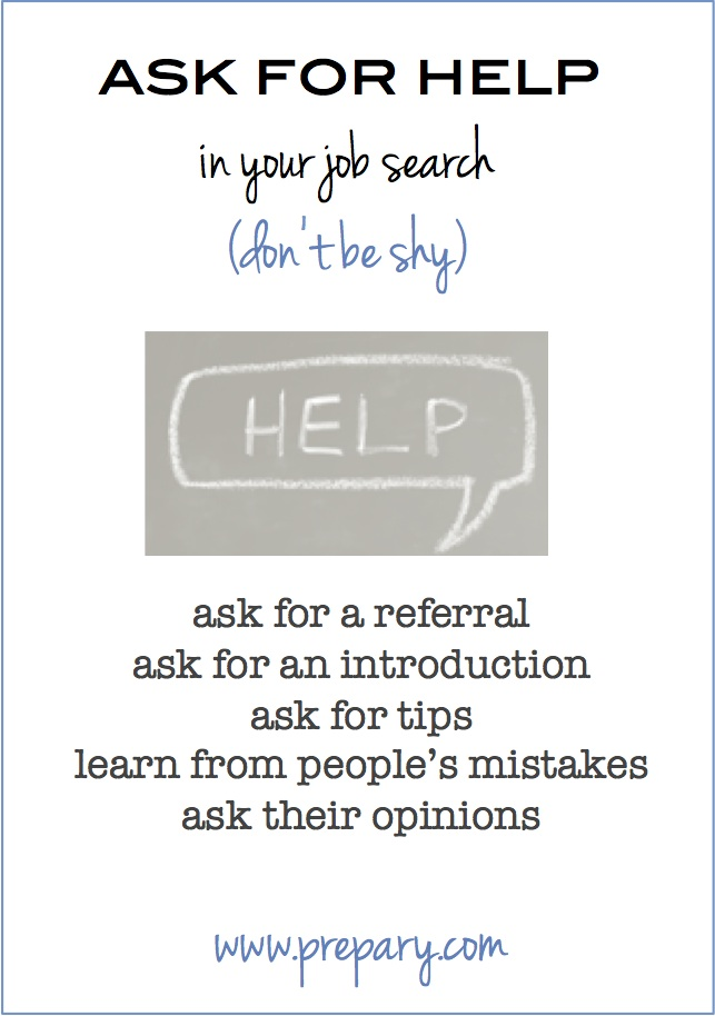 ask for help in your job search