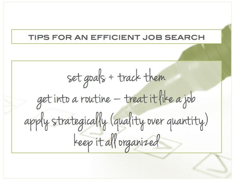 efficient job search
