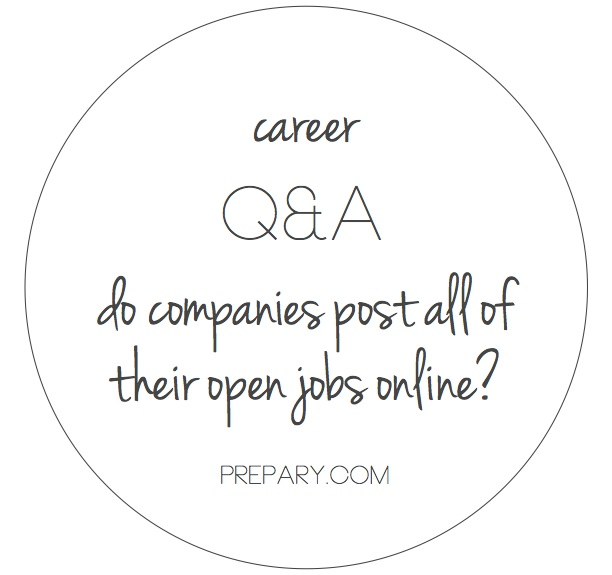 do companies post all of their jobs online