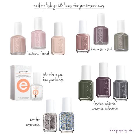 nail polish color for interviews