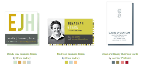 business cards for job search