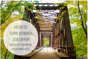turn down a job offer