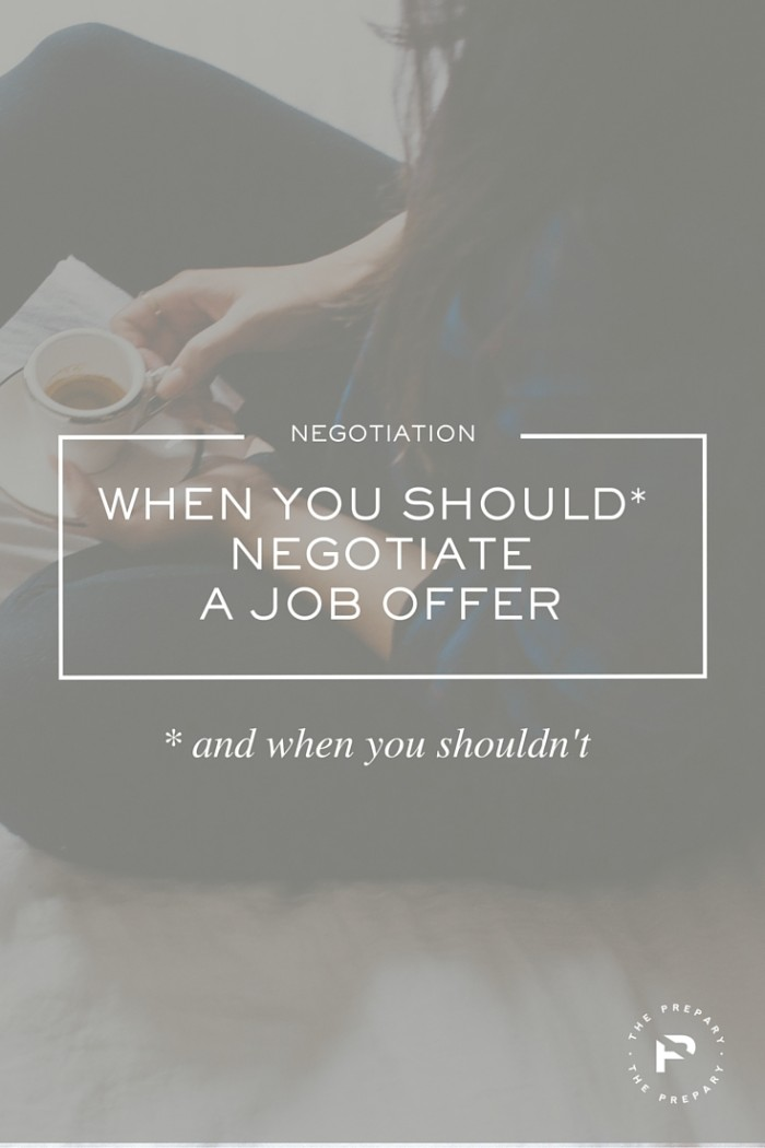 negotiate job offer