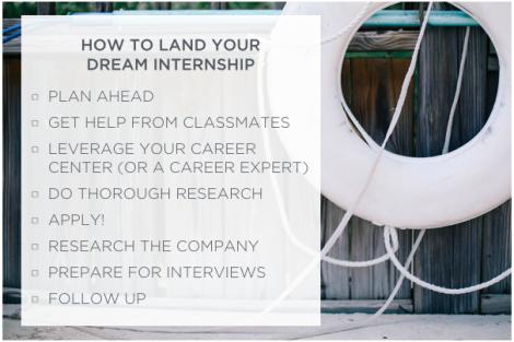 How to land a summer internship