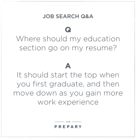 education section on a resume