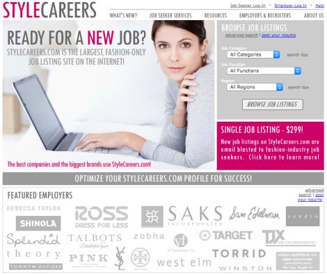 Fashion Job Search - Job Boards