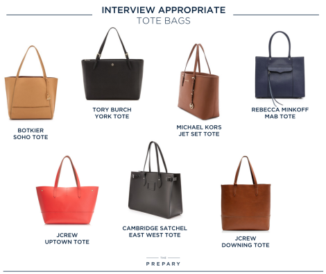 Interview appropriate tote bags