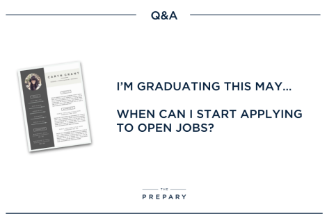 when to apply to full time jobs - recent grad