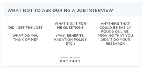 what not to ask during a job interview - tips