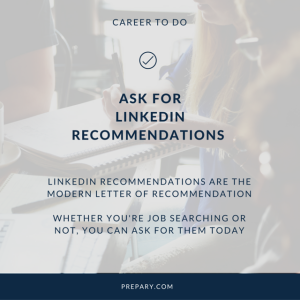 ask for a linkedin recommendation
