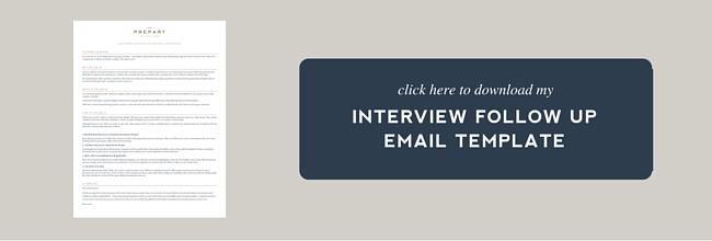 Interview Follow Up Template