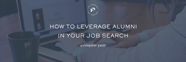 leverage alumni in the job search linkedin